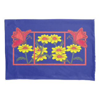 Butterflies & Flowers II Pillows Pair Pillowcase