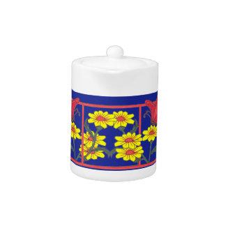 Butterflies & Flowers II Tea Pot small
