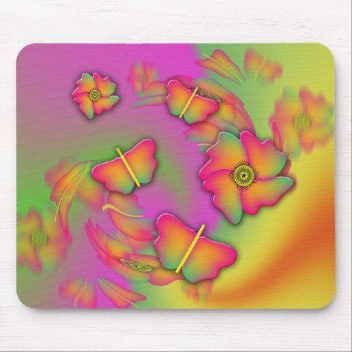 Butterflies & Flowers Mousepad