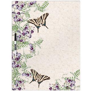 Butterflies Flowers Wildflowers Dry Erase Board