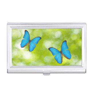 Butterflies flying business card holder