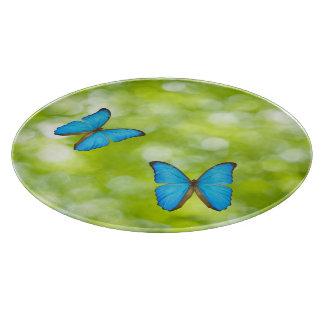 Butterflies flying cutting board