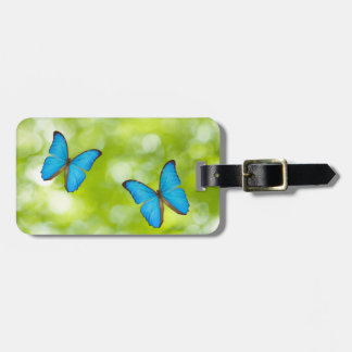 Butterflies flying luggage tag