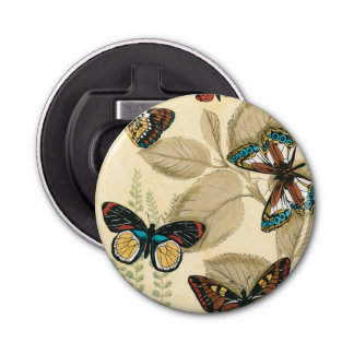 Butterflies Gliding Over Leaves Bottle Opener
