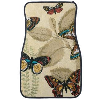 Butterflies Gliding Over Leaves Floor Mat
