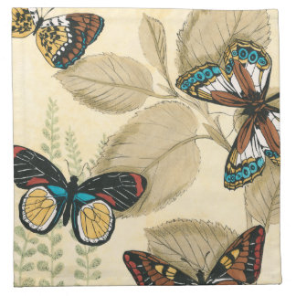 Butterflies Gliding Over Leaves Napkin