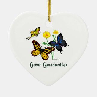Butterflies Great Grandmother Christmas Ornament