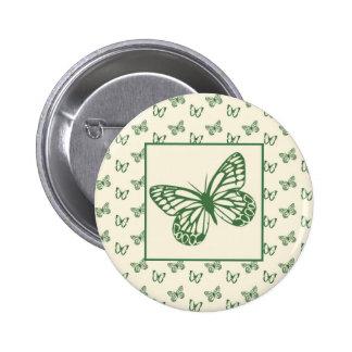 Butterflies Green Button