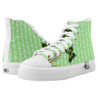 Butterflies green high tops