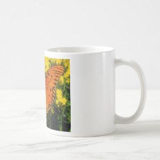 butterflies gulf fritillary basic white mug