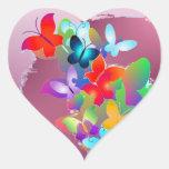 Butterflies Heart Stickers
