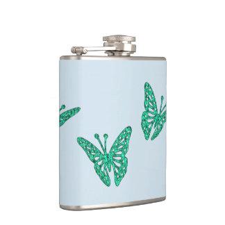 Butterflies Hip Flask