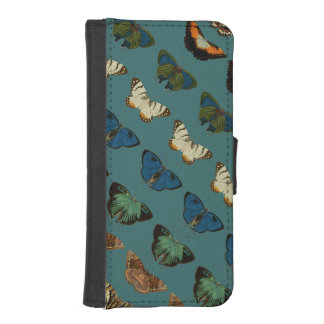 Butterflies in Blue iPhone SE/5/5s Wallet Case
