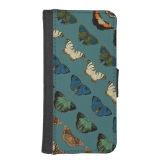 Butterflies in Blue iPhone SE/5/5s Wallet Case