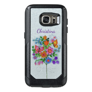 Butterflies in Colorful Flower Bouquet on Stem OtterBox Samsung Galaxy S7 Case