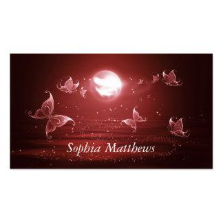 Butterflies in Crimson Moonlight Pack Of Standard Business Cards