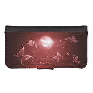 Butterflies in Crimson Moonlight iPhone SE/5/5s Wallet Case