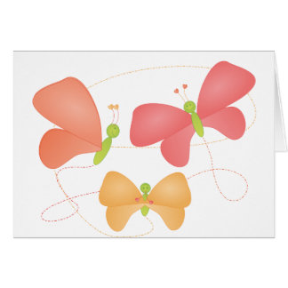 Butterflies in Fruity Colors Greeting Card