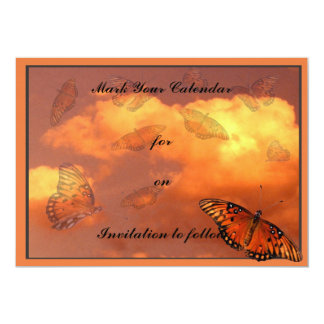 Butterflies in the Sky 13 Cm X 18 Cm Invitation Card
