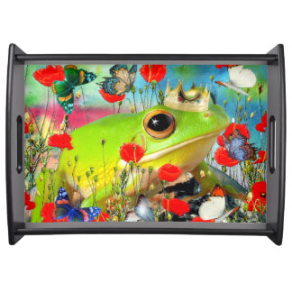 Butterflies in the stomach serving tray