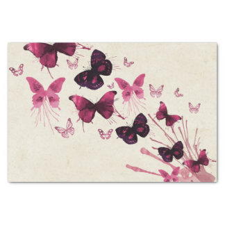 Butterflies in Watercolor Tissue Paper