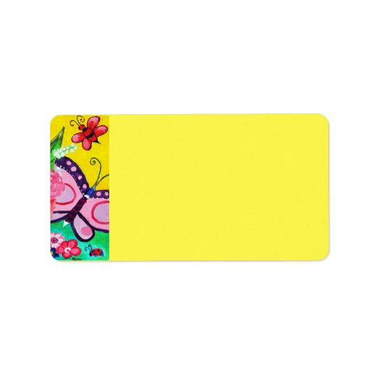 Butterflies & Ladybugs Address Label
