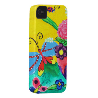 Butterflies & Ladybugs iPhone 4 Barely There Case-Mate iPhone 4 Case