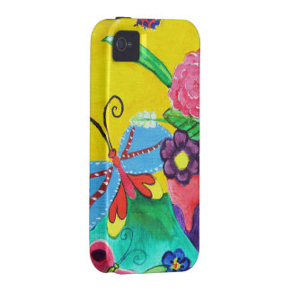 Butterflies & Ladybugs iPhone 4 Tough Vibe iPhone 4 Covers