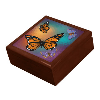 BUTTERFLIES LARGE SQUARE GIFT BOX