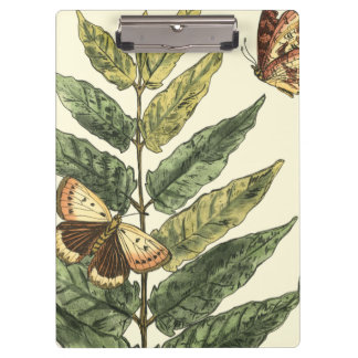 Butterflies & Leaves with Black Frame Clipboard