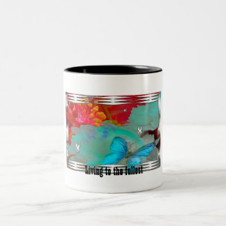 butterflies, Living to the fullest Two-Tone Mug