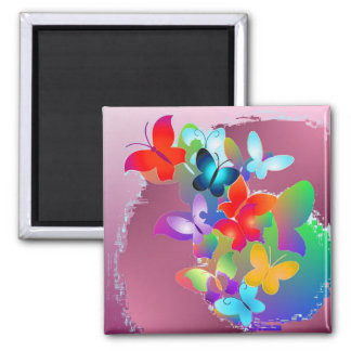 Butterflies Square Magnet
