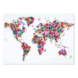 Butterflies Map of the World Card