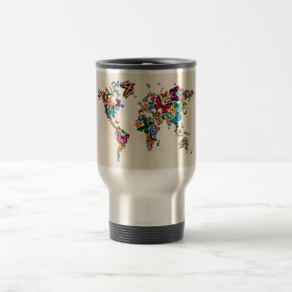 Butterflies Map of the World Coffee Mug