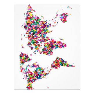 Butterflies Map of the World Personalised Flyer