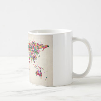 Butterflies Map of the World Map Coffee Mug
