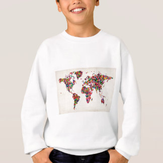 Butterflies Map of the World Map Sweatshirt