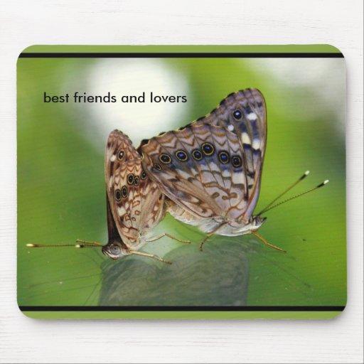 Butterflies Mating - Best Friends and Lovers Mousepad