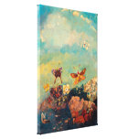 Butterflies | Odilon Redon Stretched Canvas Print
