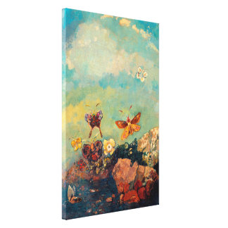 Butterflies   Odilon Redon Stretched Canvas Print