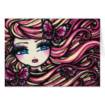 Butterflies of Hope Pink Fantasy Fairy Girl Greeting Card