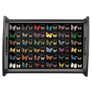 Butterflies of the World (dark) Serving Tray