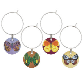 Butterflies of the World Wine Charm