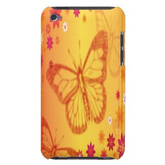 Butterflies on a Floral Background Barely There iPod Cover