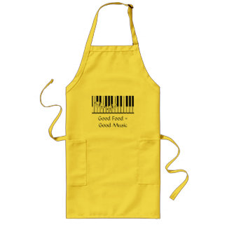 butterflies on keyboard Theme Long Apron