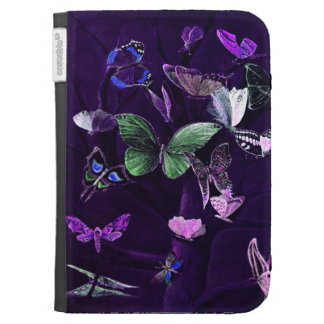 Butterflies On Purple Case For The Kindle