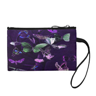 Butterflies On Purple Coin Purse