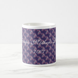 Butterflies On Purple, Happy Mother's Day! 2007 Basic White Mug