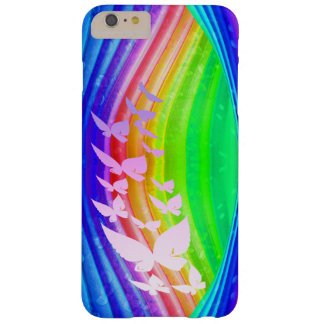Butterflies on Rainbow Colored Design Barely There iPhone 6 Plus Case