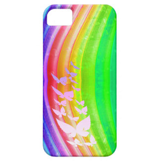Butterflies on Rainbow Colored Design iPhone 5 Cases